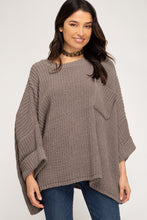 Load image into Gallery viewer, Linen Blend Long Split Ruffle Hem Sleeve Top
