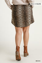 Load image into Gallery viewer, Animal Print Elastic Waist and Drawstring Skirt with Pockets