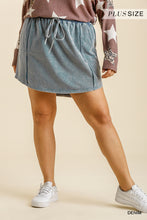 Load image into Gallery viewer, Mineral Washed French Terry Elastic Waistband and Drawstring Skirt