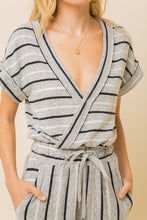 Load image into Gallery viewer, Soft Striped Brushed Hacci Romper