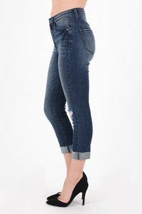 High Rise Cropped Skinny Jean