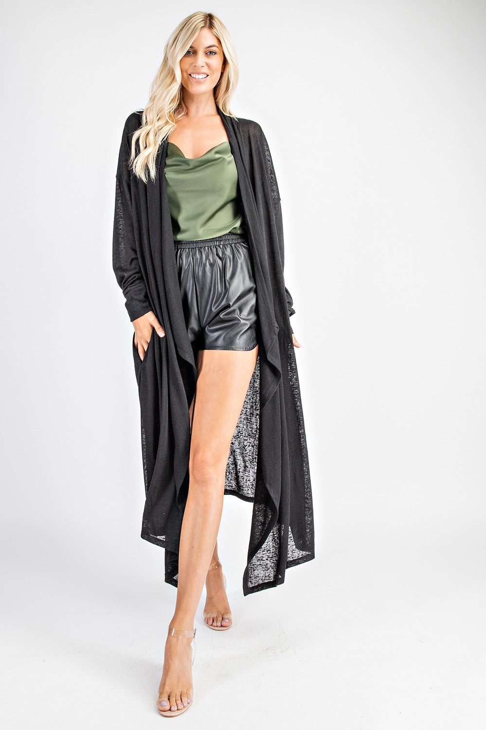 Drop Sleeves Long Cardigan