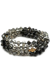 KNOTTED CRYSTAL WITH MAGNETIC CLUSTER BRACELET OR NECKLACE