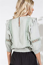 Load image into Gallery viewer, Ruffled Lace Trim Blouse