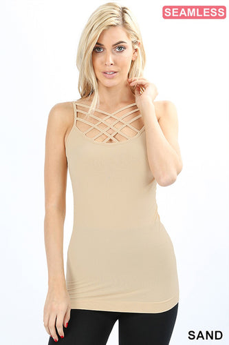 Seamless Triple Criss Cross Cami