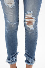 Load image into Gallery viewer, Mid Rise Hem Detail Ankle Skinny Jeans