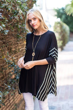 Load image into Gallery viewer, Solid Rayon Spandex Tunic Top with Stripe Contrast