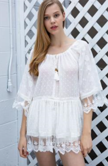 Flowy Swiss Dot Tunic