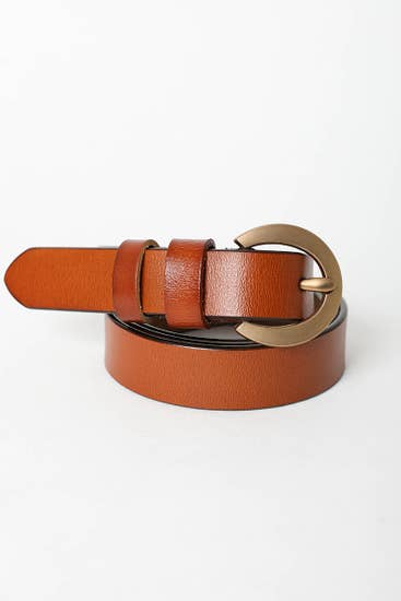 Gold Curved Buckle Waist Belt