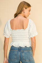 Load image into Gallery viewer, PUFF SLEEVE SMOCKED TOP