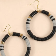 Load image into Gallery viewer, Rubber Metal Disc Round Earrings