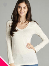Load image into Gallery viewer, Basic Long Sleeve V-Neck-Assort.Colors
