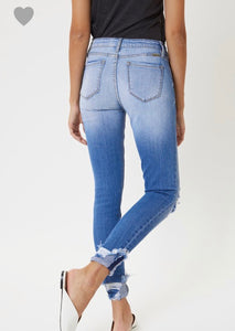 Kancan Distressed Jean with Cuff