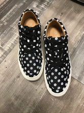 Load image into Gallery viewer, Puzzle Black Polka Dot Shoe