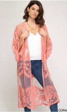 Load image into Gallery viewer, KIMONO SLEEVE CROCHET LACE OPEN FRONT CARDIGANS