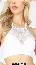 Load image into Gallery viewer, High Neck Lace Cutout Bralette