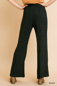 High Waist Wide Leg Pant with Front Pockets