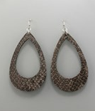 Cut Out T Drop Earrings