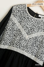 Load image into Gallery viewer, Animal Print Top with Lace Details and Bell Sleeves