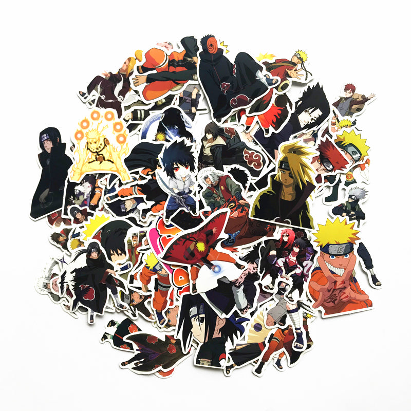 63 Pcs/Lot Waterproof Naruto Kakashi Sasuke Stickers