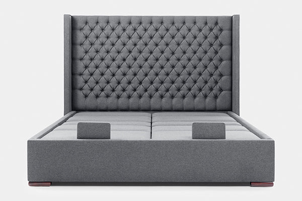 Edel Super King Dual Adjustable Bed with Diamond Headboard