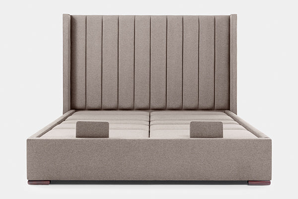 Edel Super King Dual Adjustable Bed with Pleat Headboard