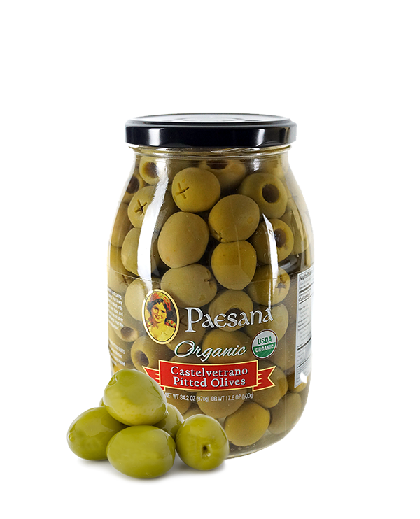 Organic Castelvetrano Pitted Olives