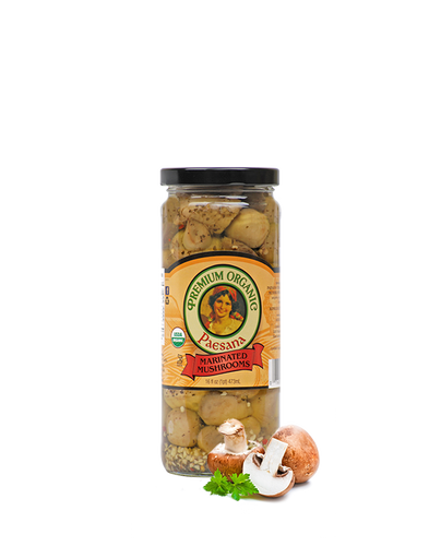 Organic Marinated Mushrooms