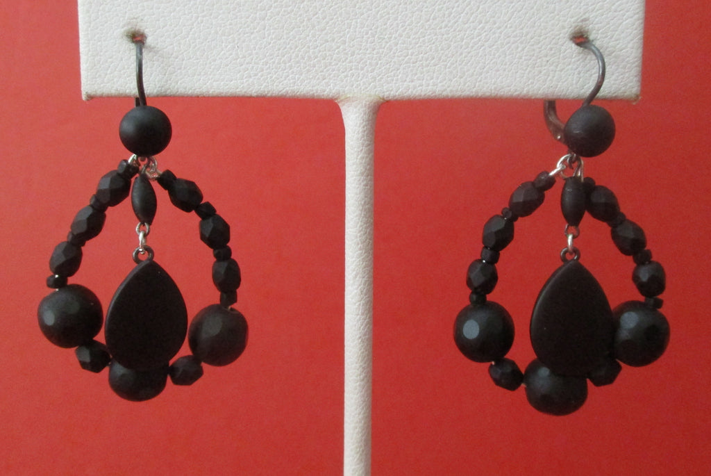 Pair of Antique Pate de Verre Earrings