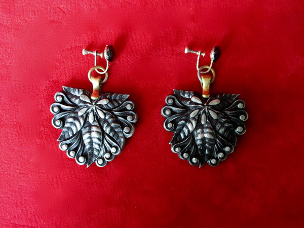 Pair of Antique Vermeil Screw Back Earrings