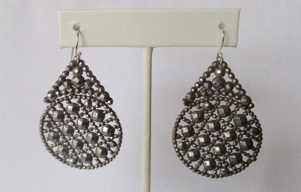Pair of Antique Cut Steel Earrings