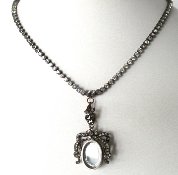Victorian Paste Necklace With Locket