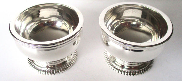 Pair of Crichton & Co.  Sterling Silver Mid-20th Century Circular Salts