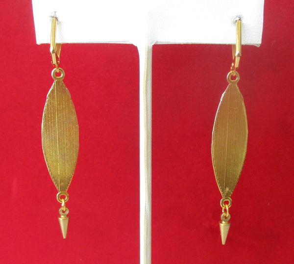 Vintage Morpho Butterfly & Brass  Earrings With Garnets