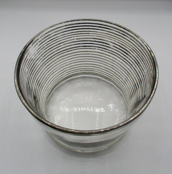 Antique Victorian Sterling Silver on Glass 4-Inch High Bowl