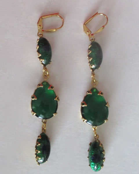Pair of Vintage Peacock Eye Earrings