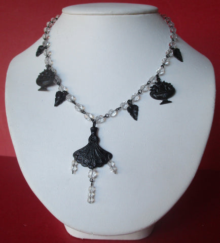 Vintage Wedding/Steampunk/Hippie-Style Crystal Necklace