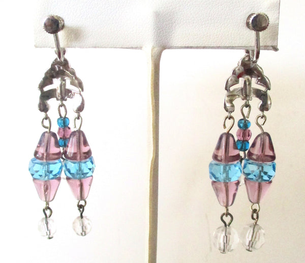 Pair of Vintage Screw-Back Crystal Earrings