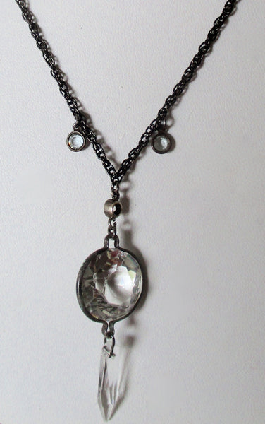 Vintage Crytal Pendant With Chain