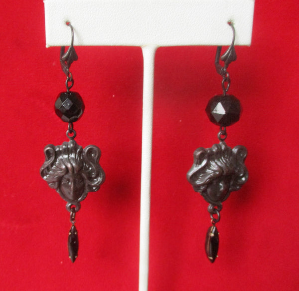 Pair of Steampunk Earrings in the Victorian Gothic Style