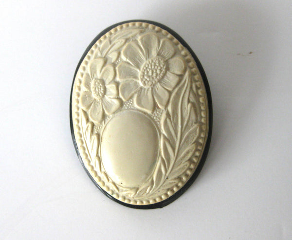 Deco Celluloid Flower Pin