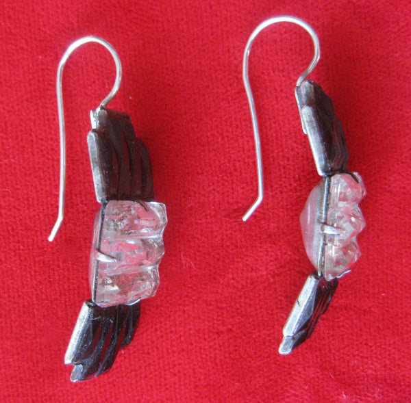 Pair of Art-Deco Crystal Earrings