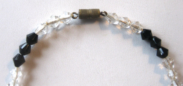 Vintage French Jet & Crystal Choker