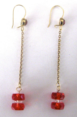 Deco Brass Briolette Earrings