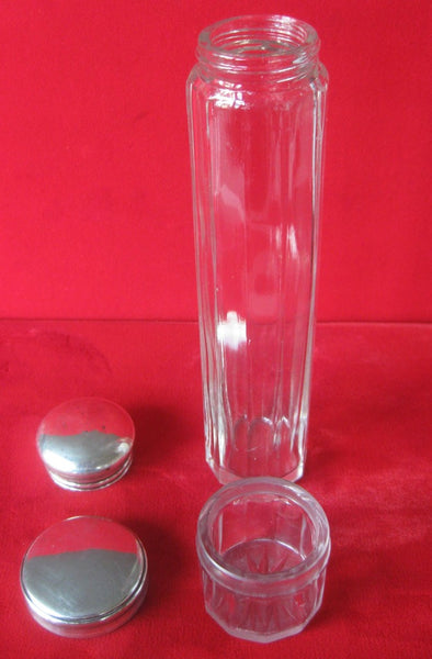 Pair of Antique Glass Vanity Jars