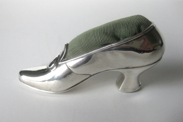 Antique Gorham Sterling Silver Shoe/Pin Cushion