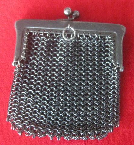 Antique Gunmetal Mini-Purse Pendant
