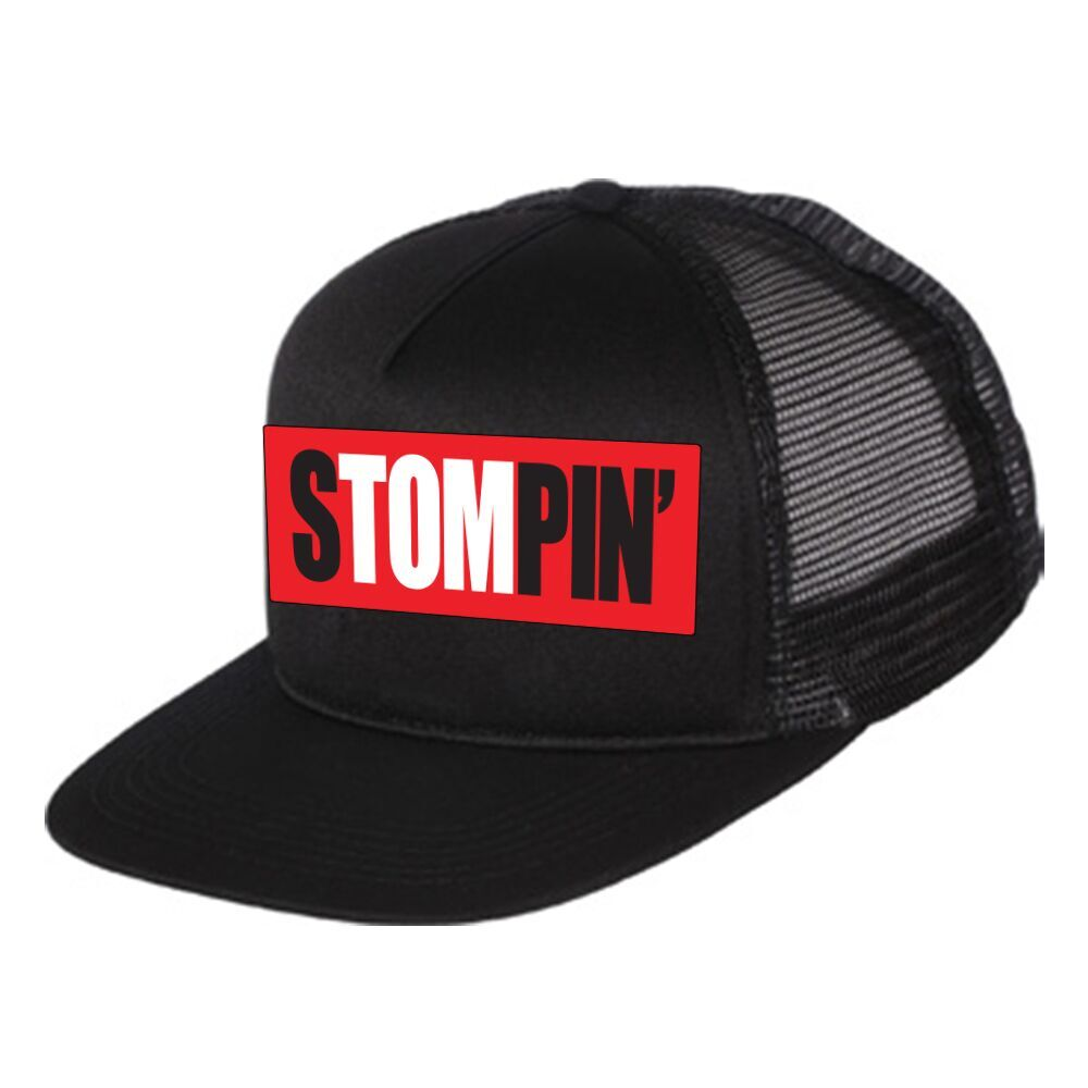 Stompin' Tom Black Trucker Hat