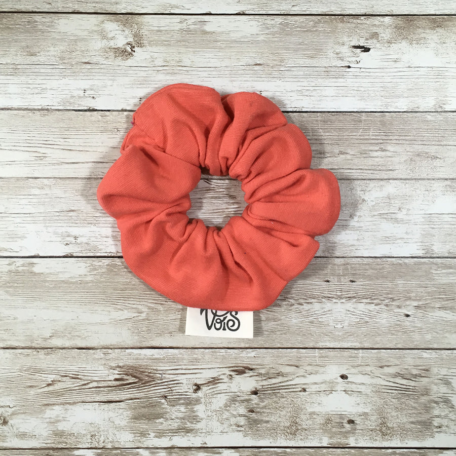 Zero-Waste Scrunchie in Coral