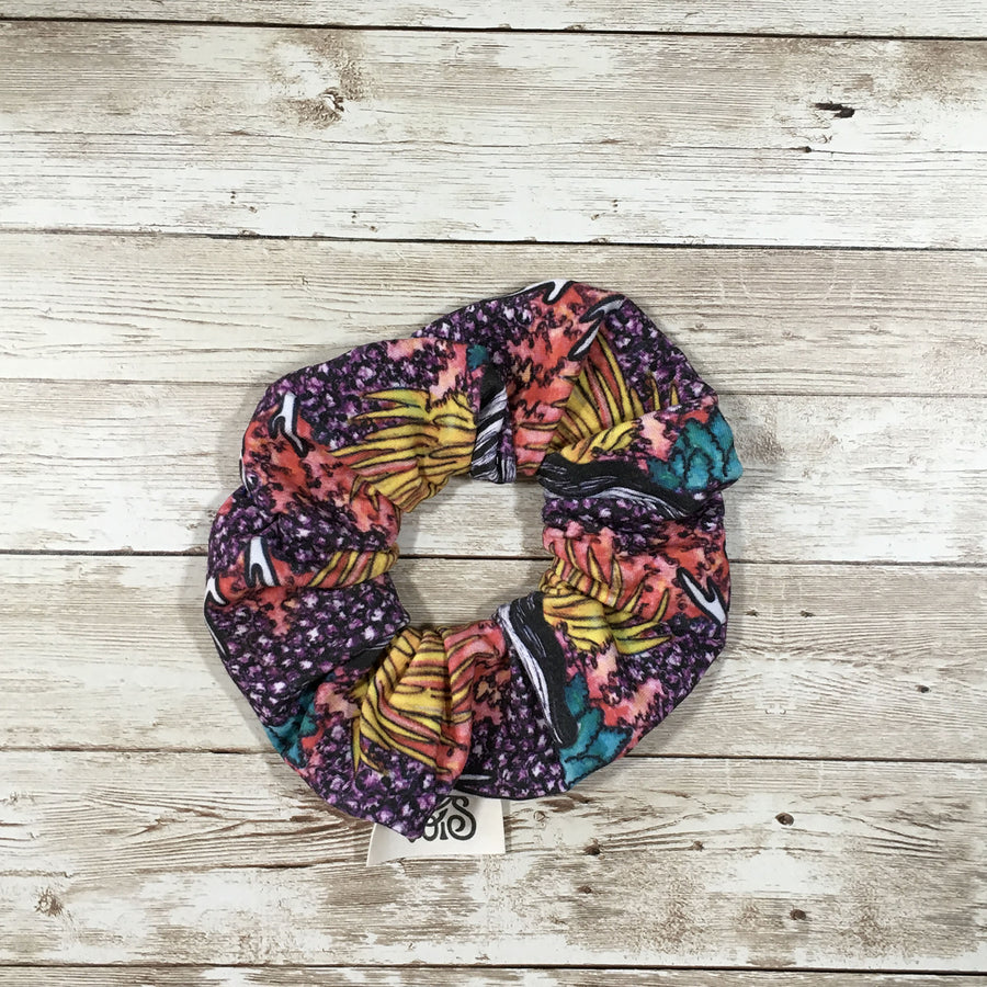 Zero-Waste Scrunchie in Coral Reef Print